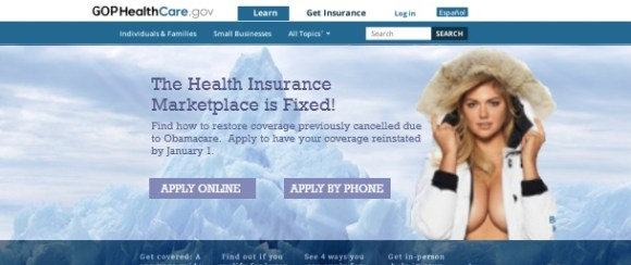 Here's how Fred Upton's Republican healthcare.gov site would look.