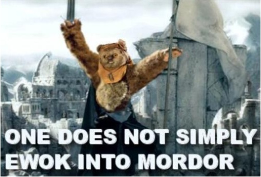 Ewok into Mordor copy