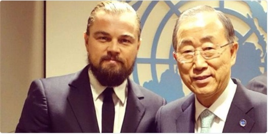 Ban ki Moon and Lenin? No, it's just Leo.