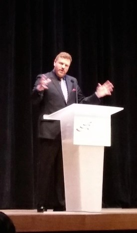 Mark Steyn at Orchestra Hall. Photo credit: Clark Griffith