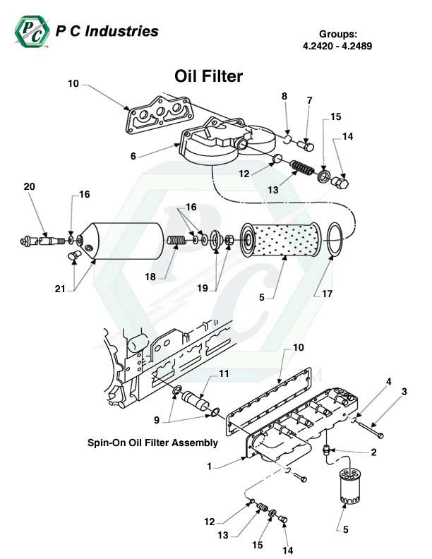 spin on fuel filter assembly
