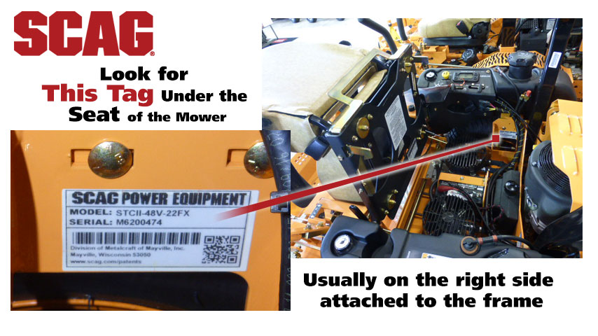 Find Your Scag Mower Model Number Power Mower Sales