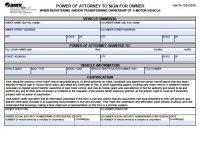Free Vehicle Transfer or Registration  Arkansas Power of ...