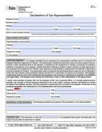 Ohio Tax Power of Attorney Form - Power of Attorney ...