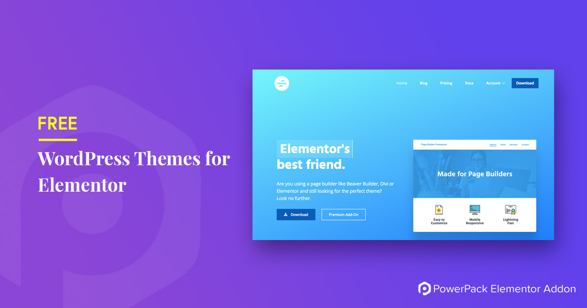 Best Free WordPress Themes for Elementor - PowerPack for Elementor - best free wordpress templates