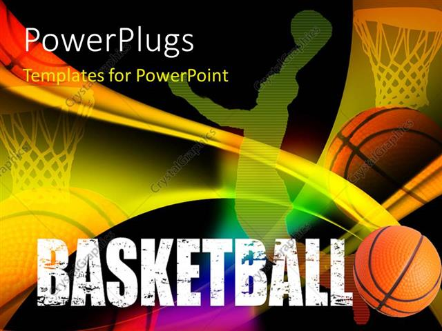 PowerPoint Template a basketball playeru0027s representation with - basketball powerpoint template