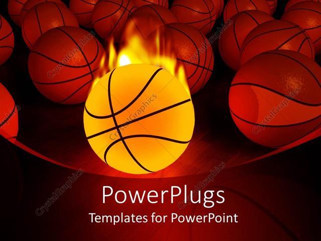 Basketball Powerpoint Template Free basketball powerpoint template - sports background for powerpoint