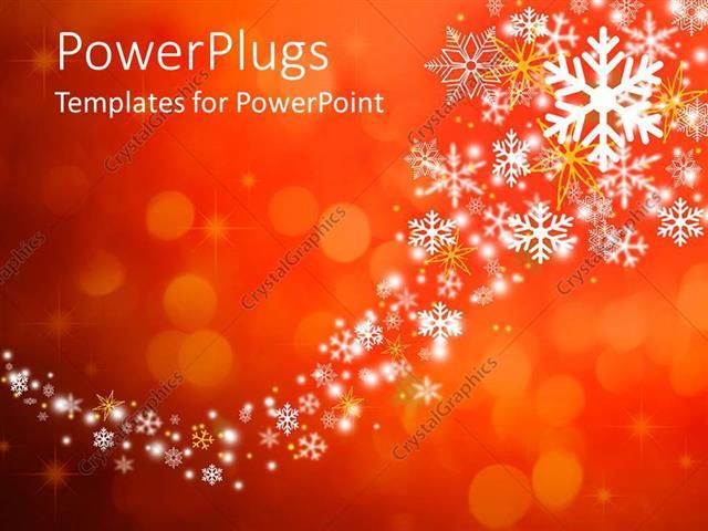 Snowflake Powerpoint Template - mandegarinfo
