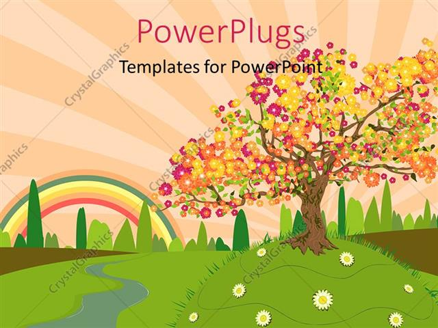 Summer Powerpoint Template Wonderful Views Of The Beach Holidays - summer powerpoint template