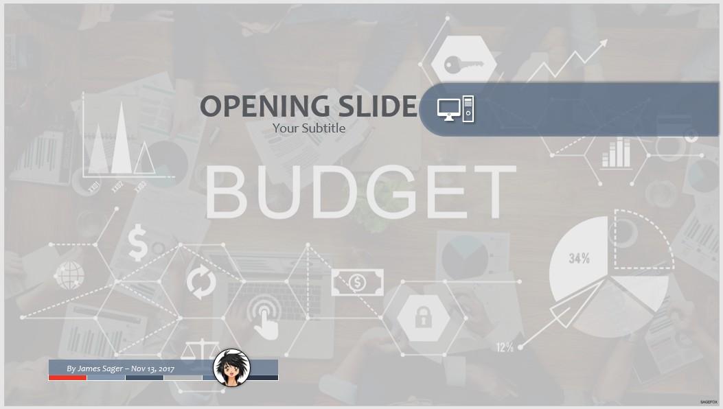budget presentation powerpoint template