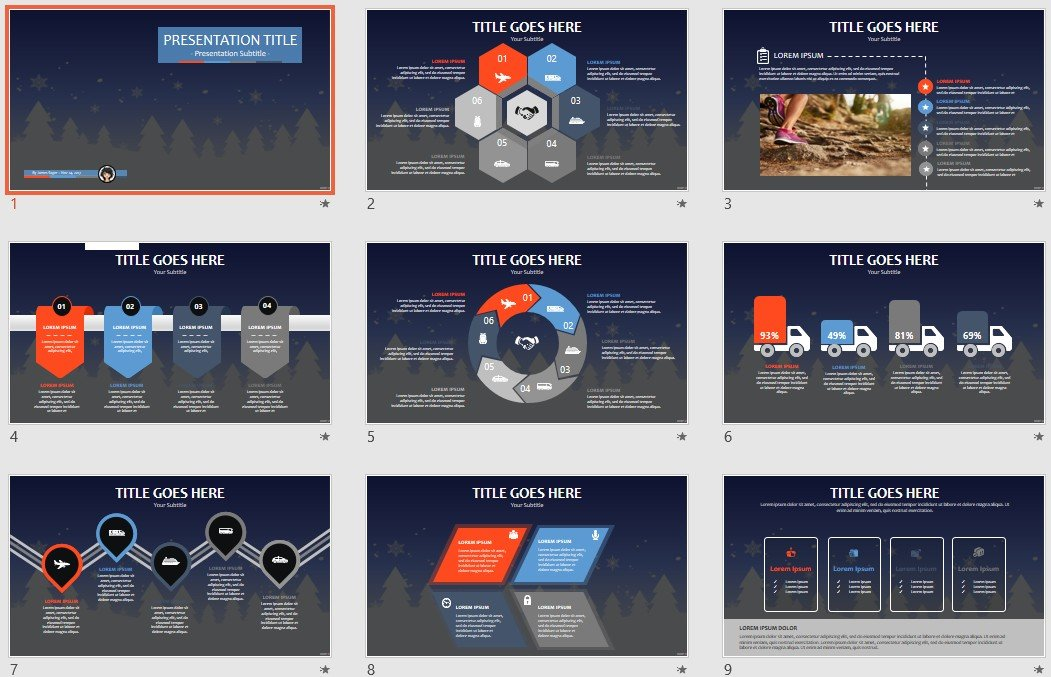 Free Winter PPT #93344 SageFox Free PowerPoint Templates