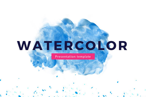 Watercolor Free Powerpoint Template - Presentations on Powerpointify