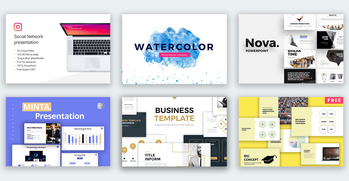 35+ Free Cool Powerpoint Templates for Awesome Slide Layouts