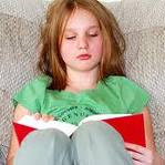 Dyslexic girl reading