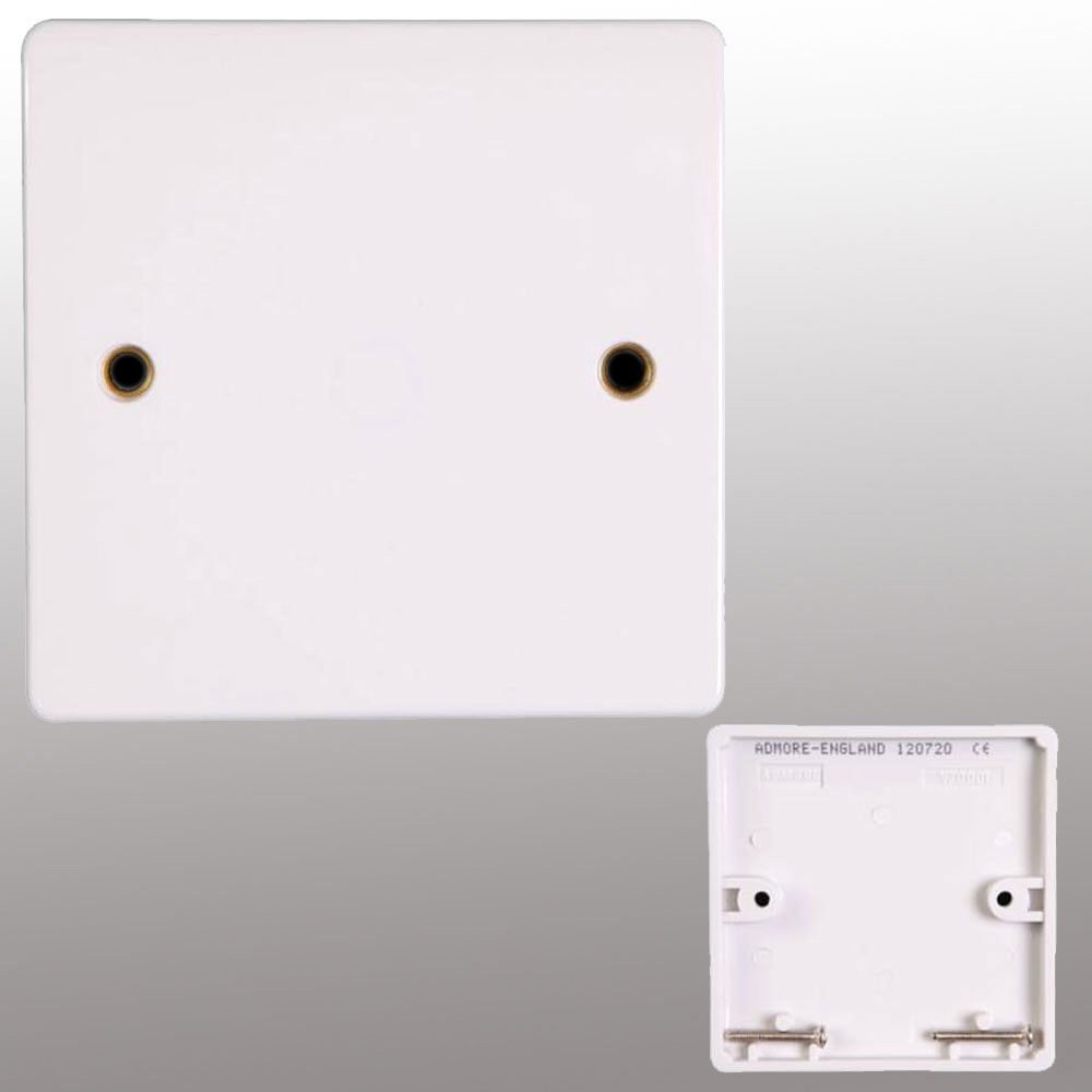 Switch Light Socket Switch Cover 1 Gang Blank Plate 3x3 White Finish Electric Light Wall Plug By Powerstar