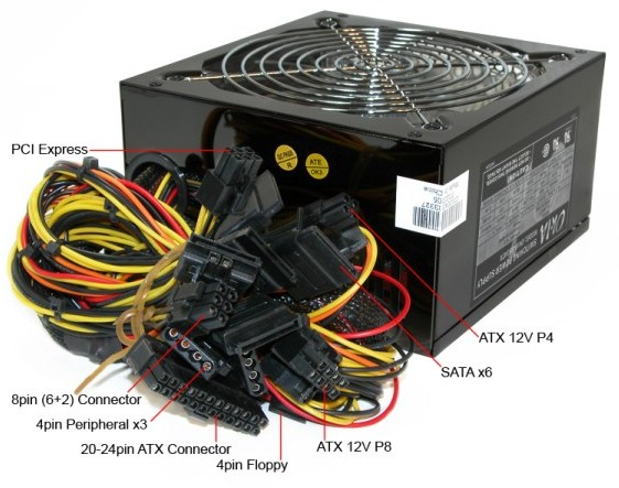 ATX Power Supply Pinout - Power Supply Circuits
