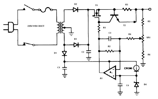 14 volt battery charger circuit