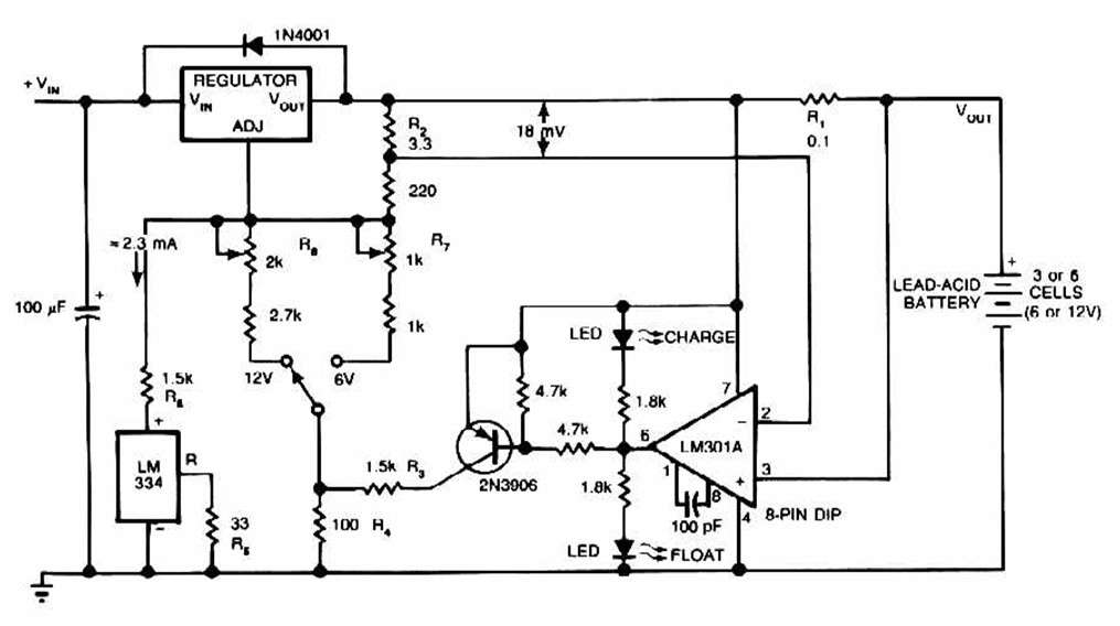 lead battery charger schematic
