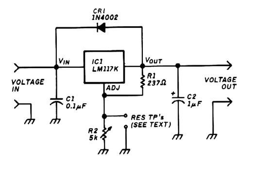 circuit for adjustable voltage