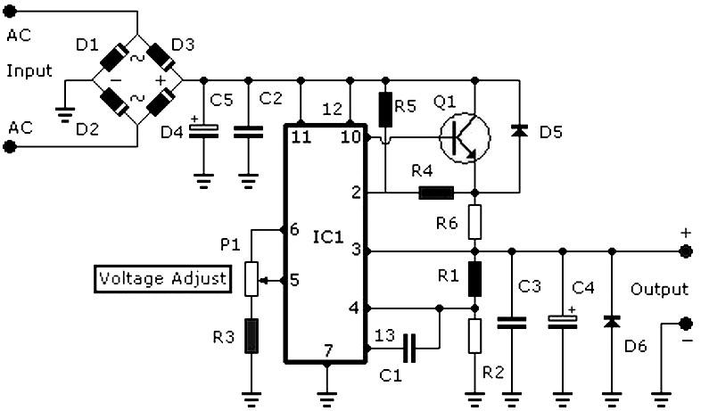 regulated power supply schematic