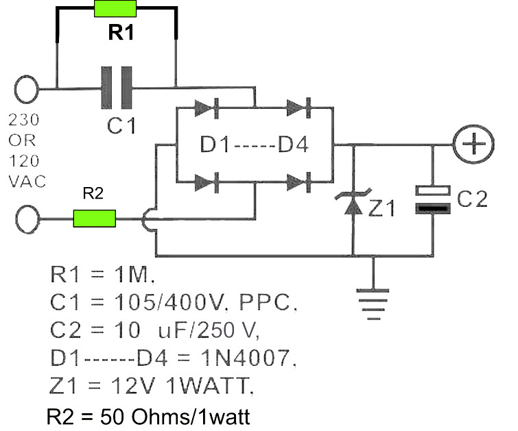12v Dc Power Supply Without Transformer on battery charging circuit