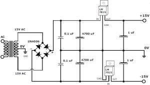 15 v 1a regulated power supply
