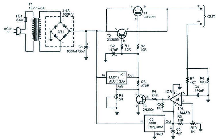 auto turnoff battery charger circuit diagram circuits diagram lab