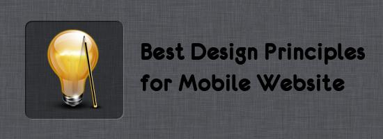Design Principles for Mobile Website
