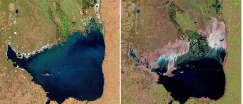 засуха озеро Мар-Чикита