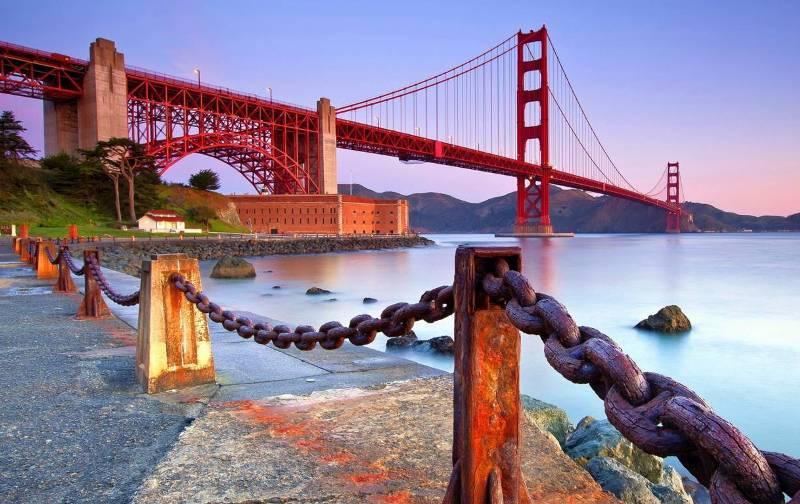 Мост «Золотые ворота» в настоящий момент.