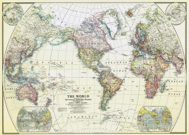 Карта мира. Первое издание, декабрь 1922 года. Фотоиситочник