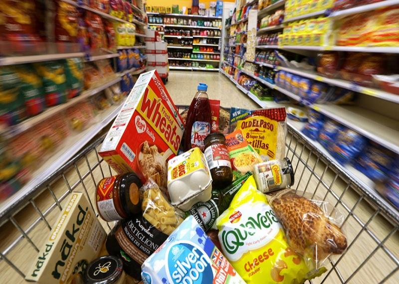 продукты, супермаркет, магазин, корзина