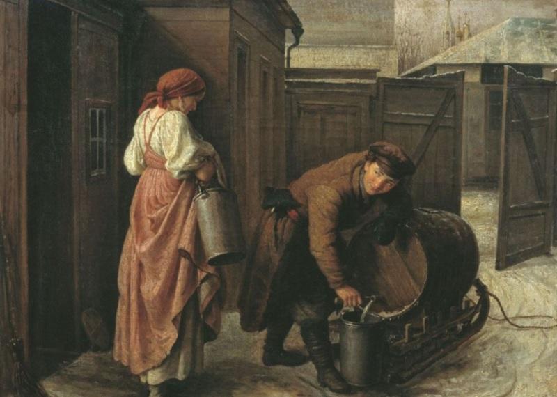"""Картина Сергея Грибкова """"Водовоз"""", 1873 г."""