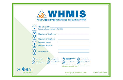 WHMIS 1988 (Before GHS) Wallet Certificates