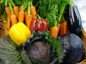 A selection of nice fresh vegetables