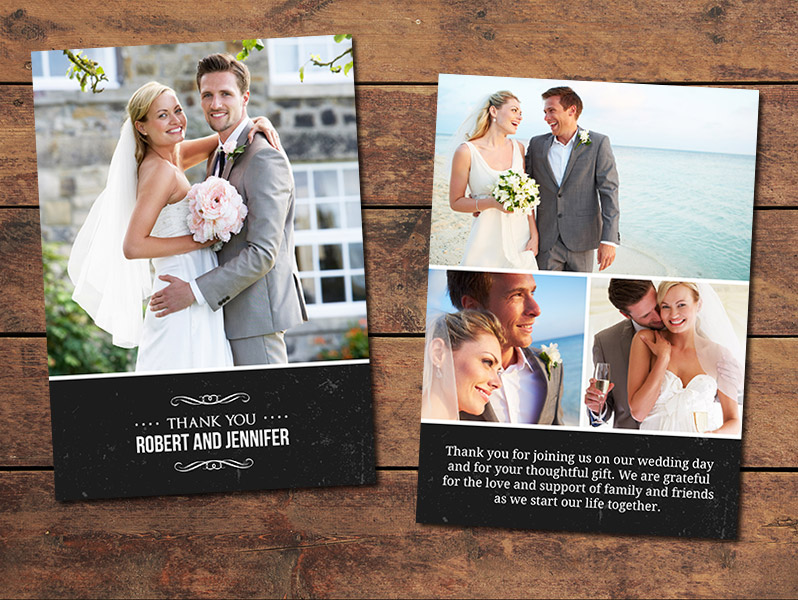 Print Templates, Wedding Thank You Cards Classic Thank You Card