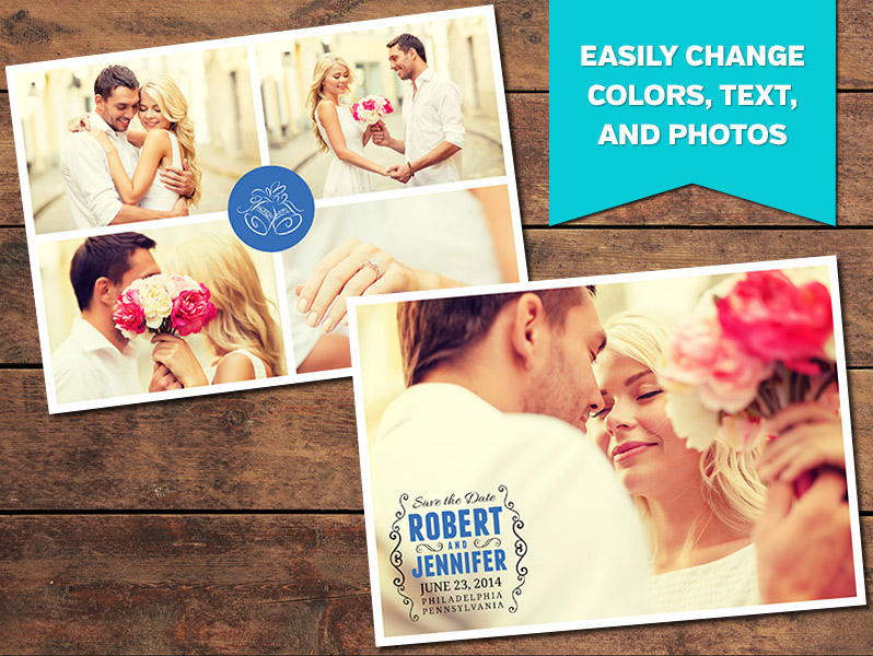 Print Templates, Save the Date Card Templates Collage Save the