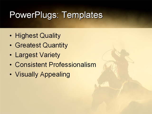 Western Theme Powerpoint Template Free