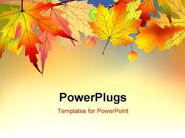 autumn ppt template - Tomburmoorddiner