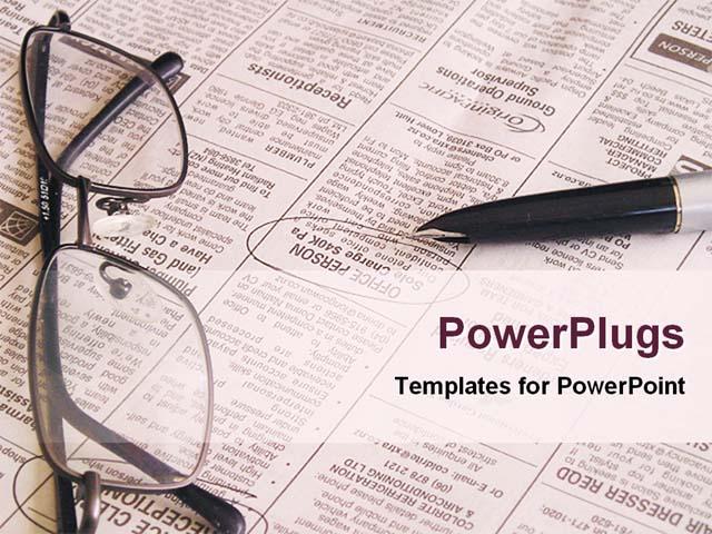 blank newspaper template powerpoint