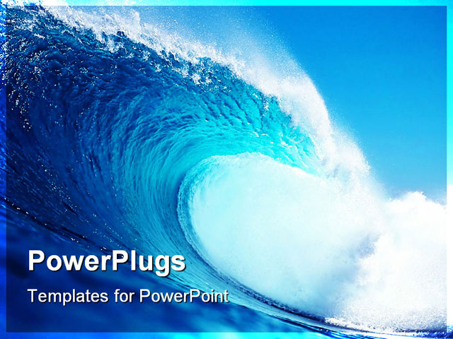 Waves ppt template is