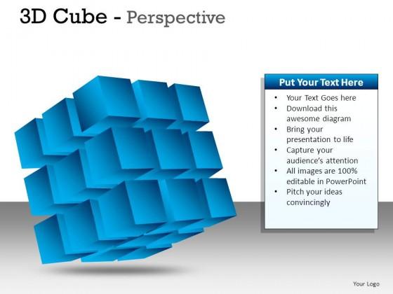 3d Cube Perspective PowerPoint Presentation Slides