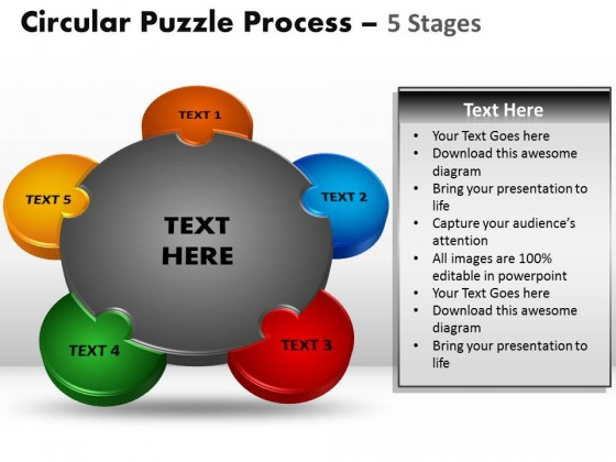 PowerPoint Template Download Circular Puzzle Process PPT Slides - puzzle powerpoint template