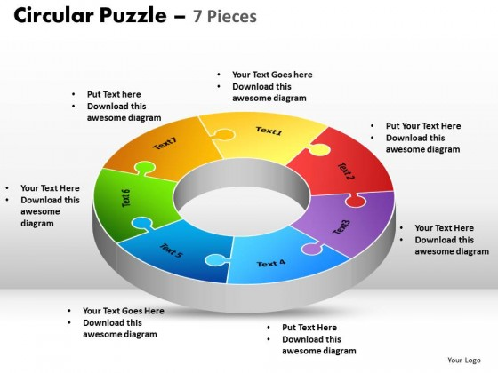 PowerPoint Template Image Circular Puzzle PPT Slides - puzzle powerpoint template