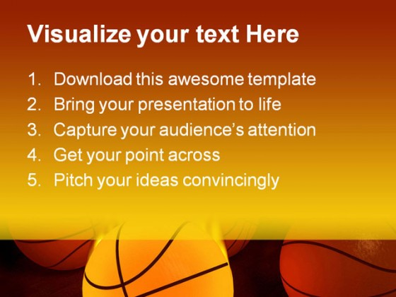 Basketball Sports PowerPoint Templates And PowerPoint