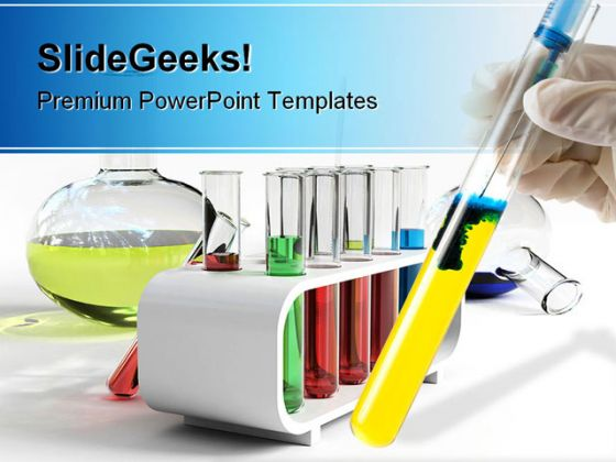 Colorful Flasks Science PowerPoint Template 0610 - powerpoint about science