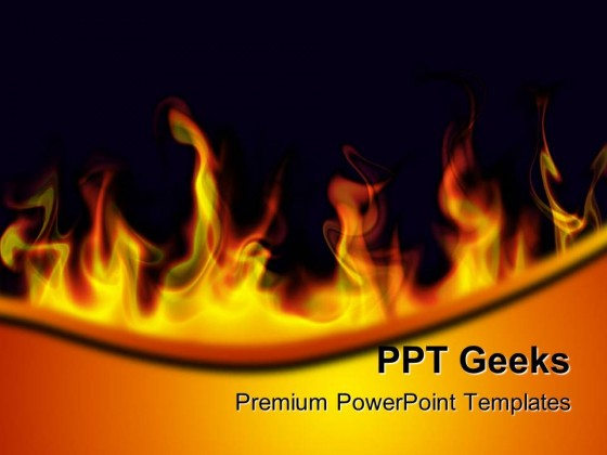 Fire Flames Abstract PowerPoint Templates And PowerPoint