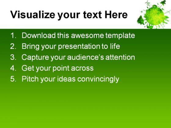 Green Planet Environment PowerPoint Template 0810