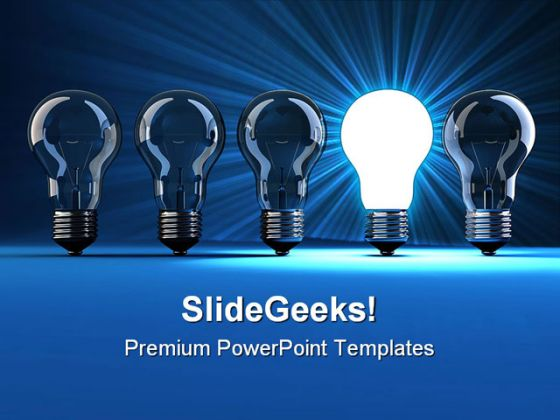 Light Bulb Idea Business PowerPoint Template 1110