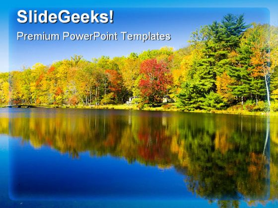Reflection Of Fall Colors Nature PowerPoint Background And - nature powerpoint
